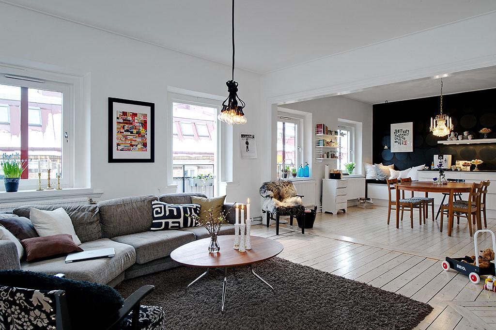 Квартира в стиле икеа фото