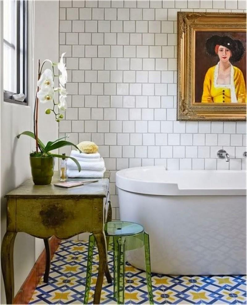 Отделка ванной комнаты плиткой (52 фото