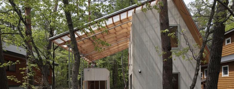 Комфорт и единение с природой: кедровый дом с огромной террасой под крышей