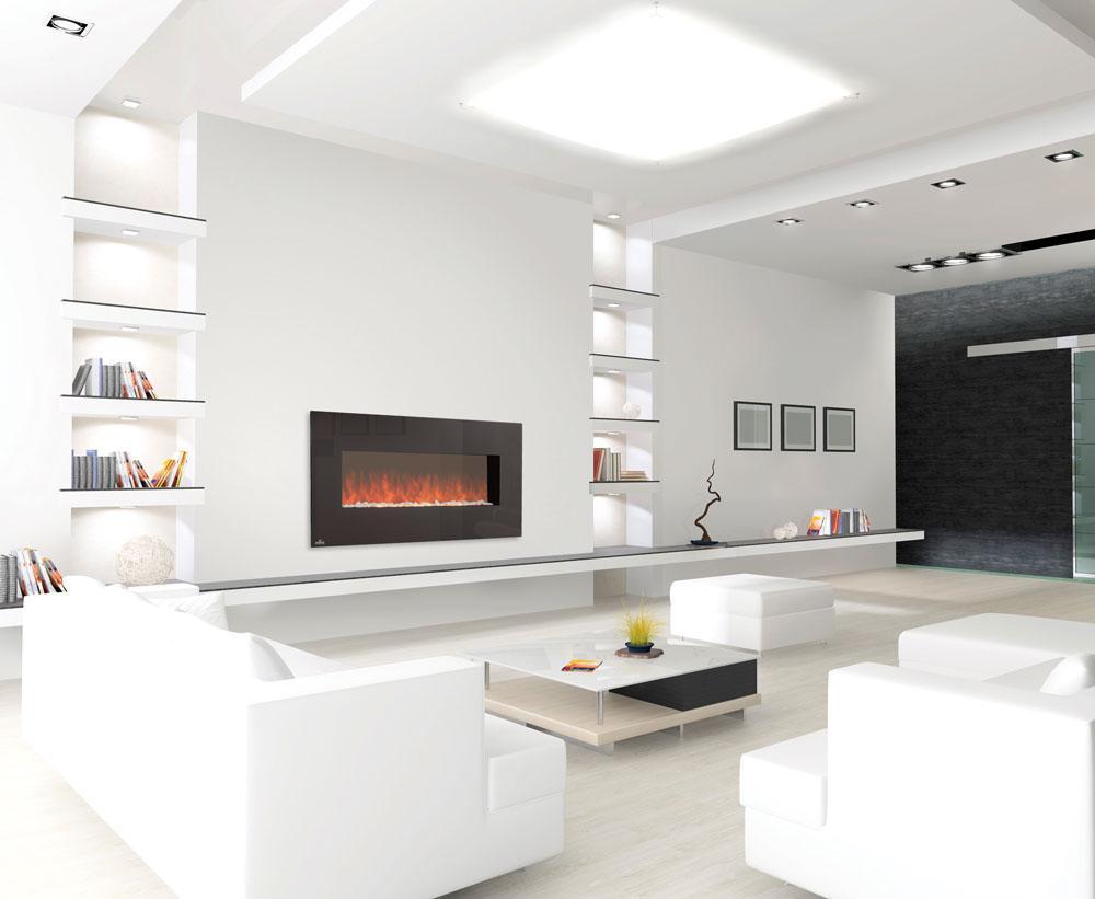 Дизайн электрических каминов фото