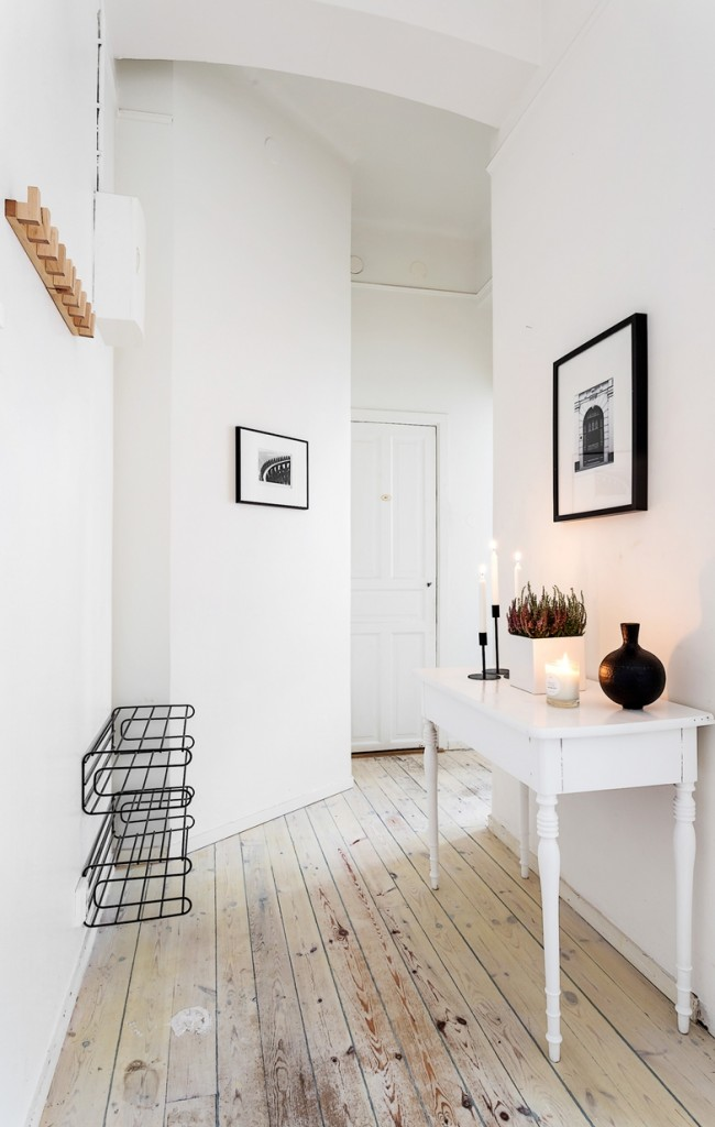 Стильный белый коридор