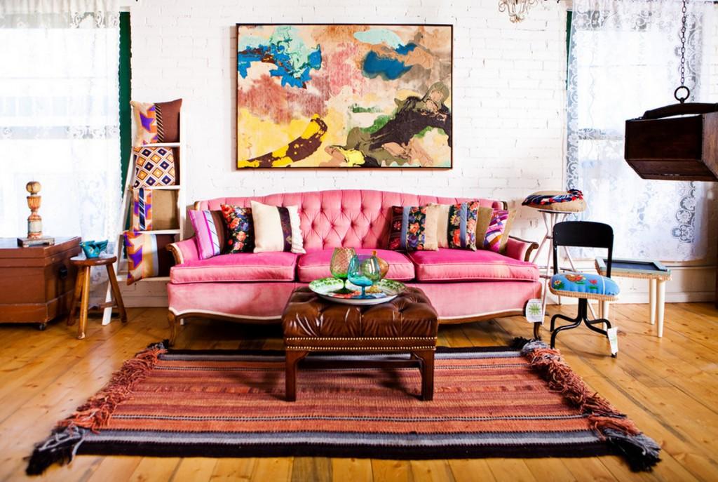 Интерьер в стиле бохо – самобытный, беззаботный и насыщенный смелыми красками
