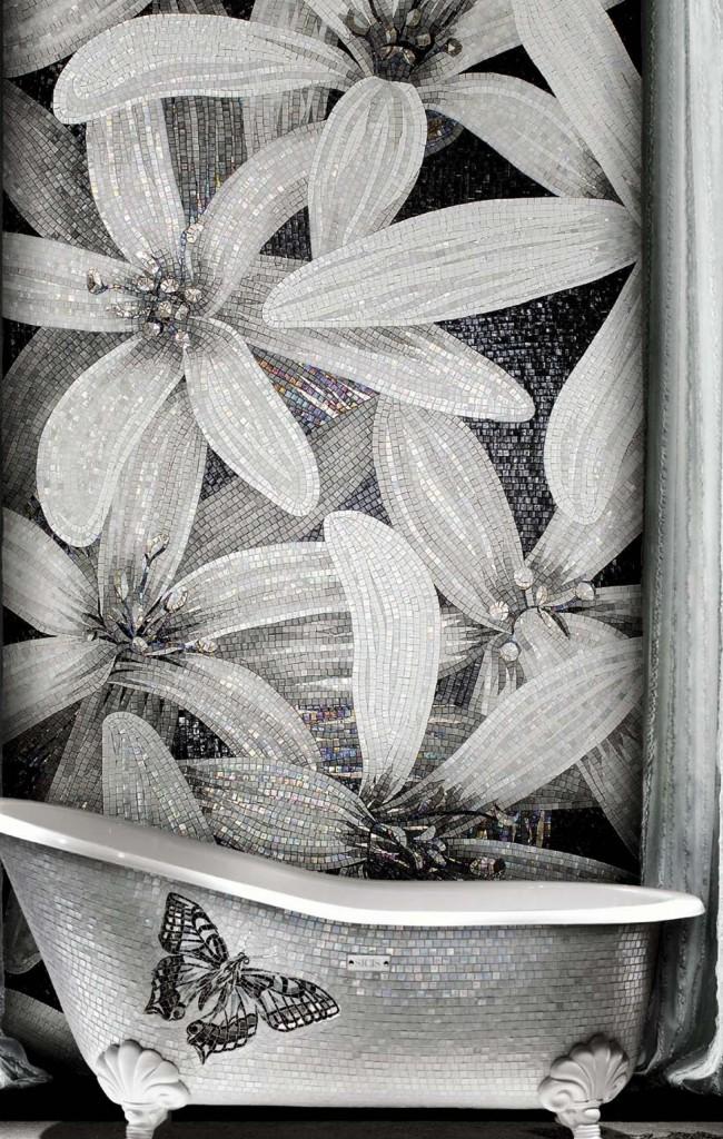 Черно-белый сюжет с перламутрово-радужным отливом