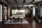 Фото 6 Кухня в стиле лофт: индустриальная романтика в домашнем интерьере, 75 фото