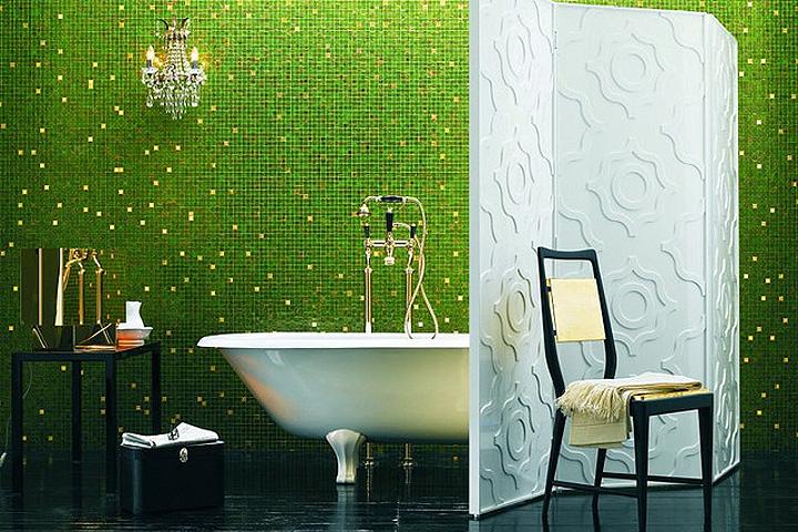 oblicovka vannoj mozaikoi Мозаика в ванной (70 фото