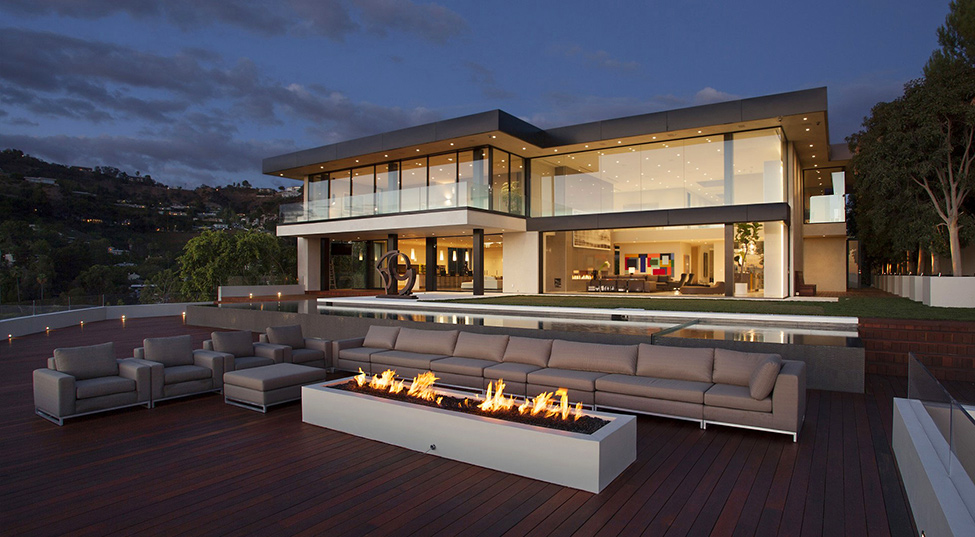 Резиденция Sunset Strip с потрясающим видом на Лос-Анджелес