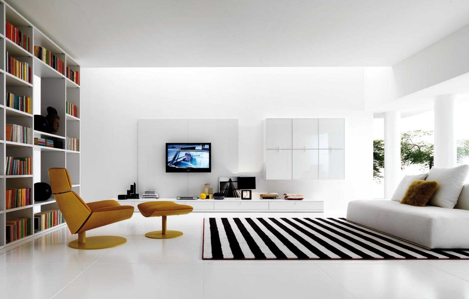 Дизайн простой кухни с гостиной
