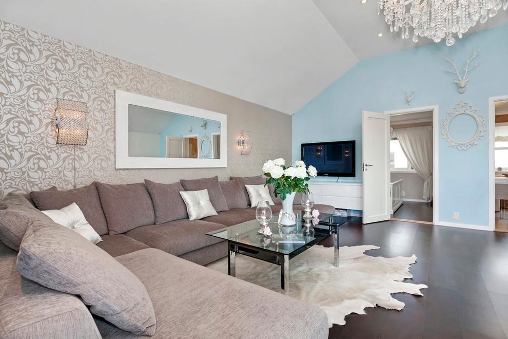 Цвет обоев в гостиной фото