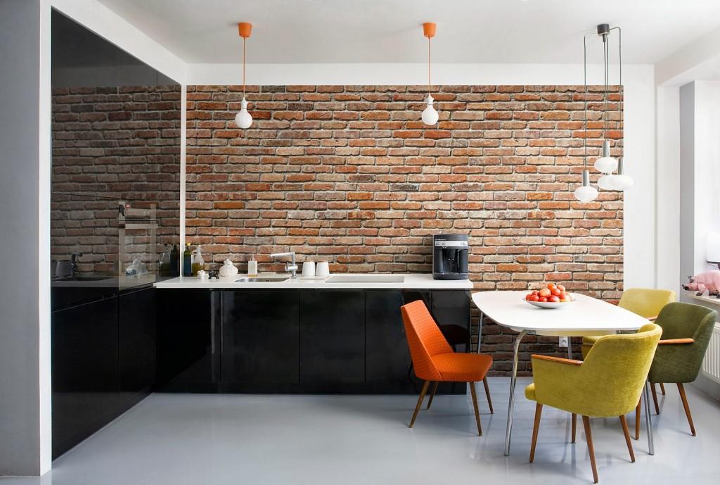 Обои под кирпичную кладку – популярный тренд в дизайне интерьеров