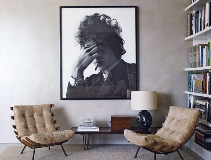 Черно-белое фото Боба Дилана. Автор - Джеральд Шацберг