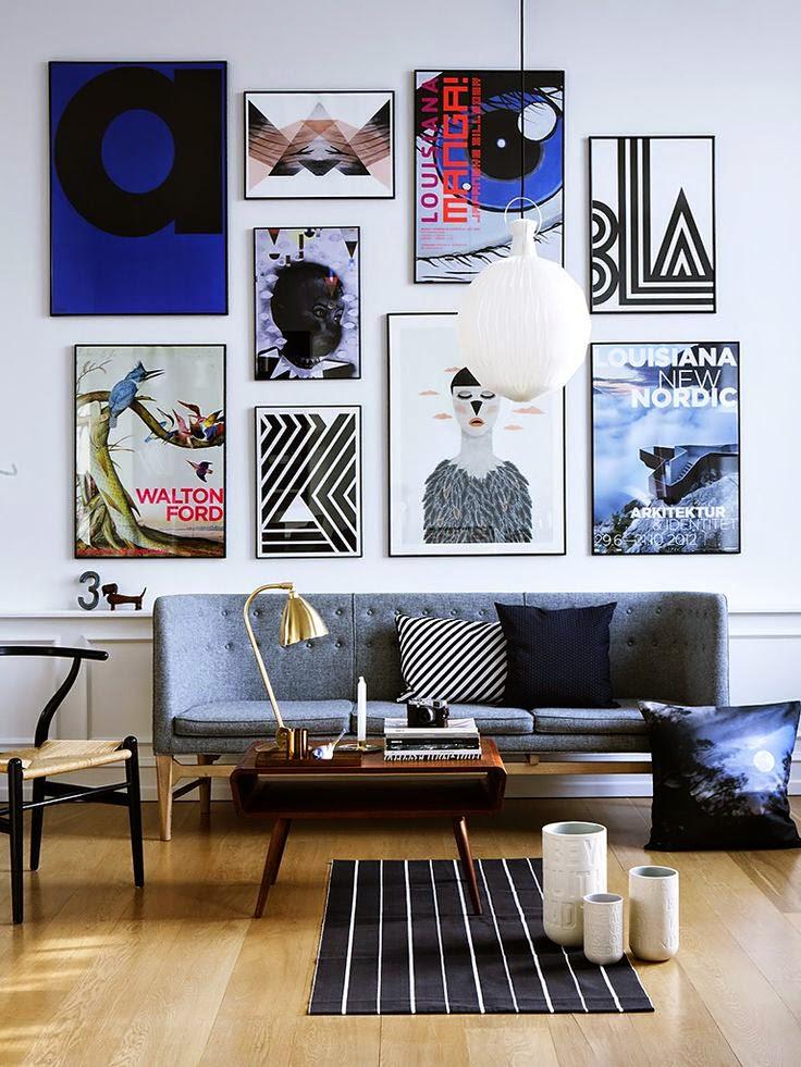 Постеры и фото в интерьере