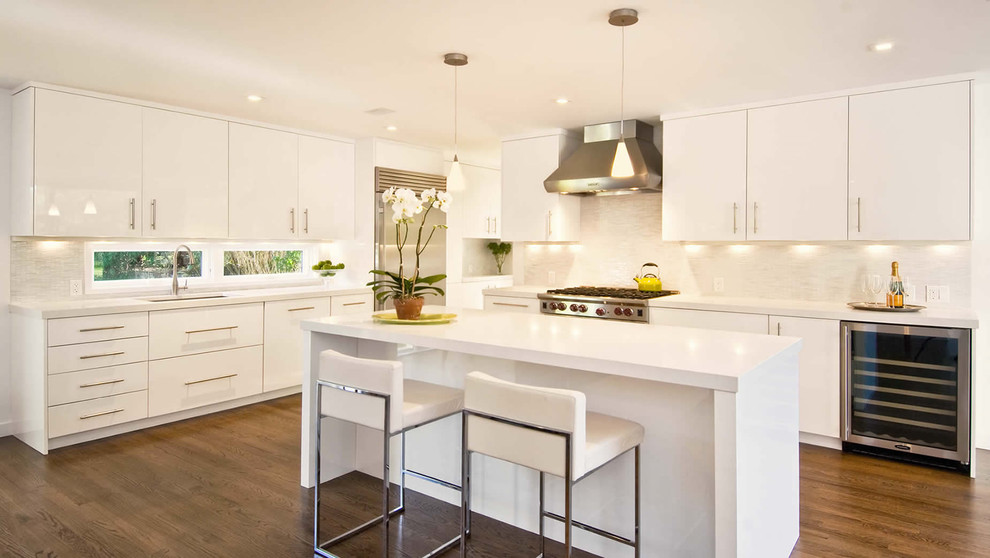 Дизайн кухни белого цвета 43 фото Happymodern