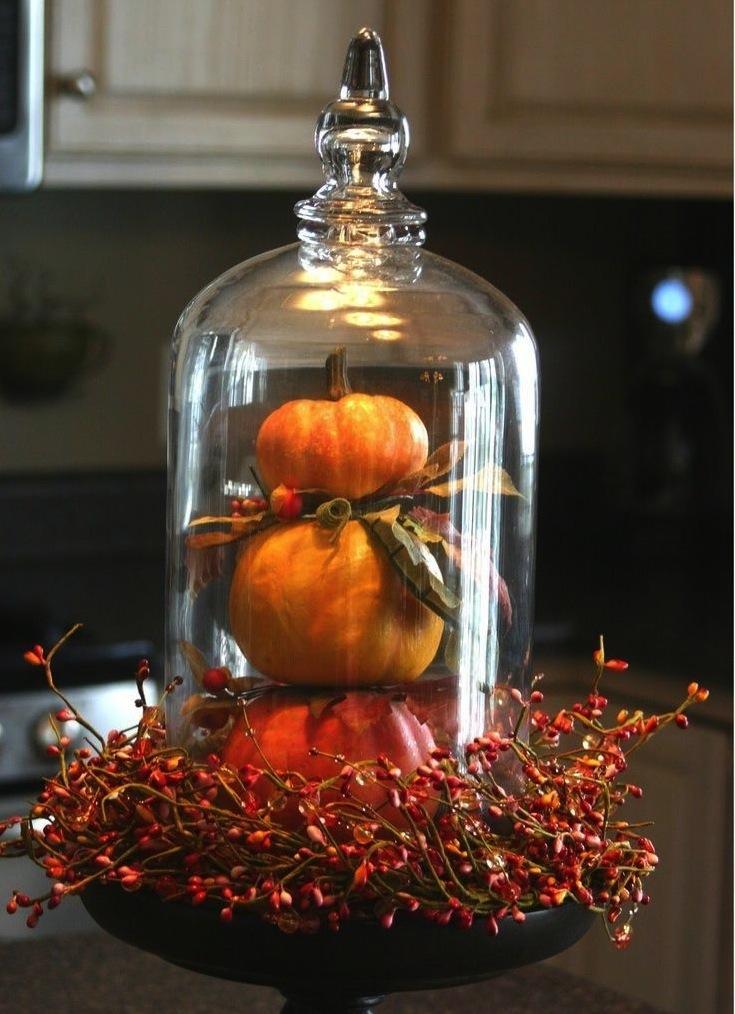 C помощью такого декора на кухне легко можно создать сезонное настроение