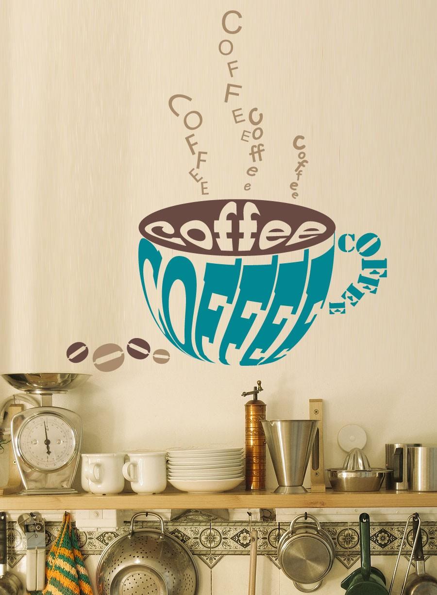 Рисунок на стене в кухне своими руками