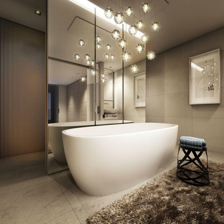 Стильные светильники в ванной преобразят облик интерьера
