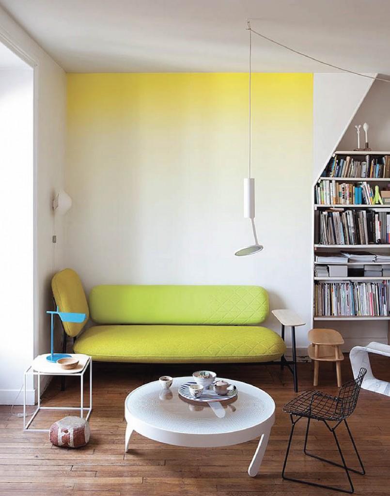 Фото 14 - Интересная идея мягкого перехода цвета на стене
