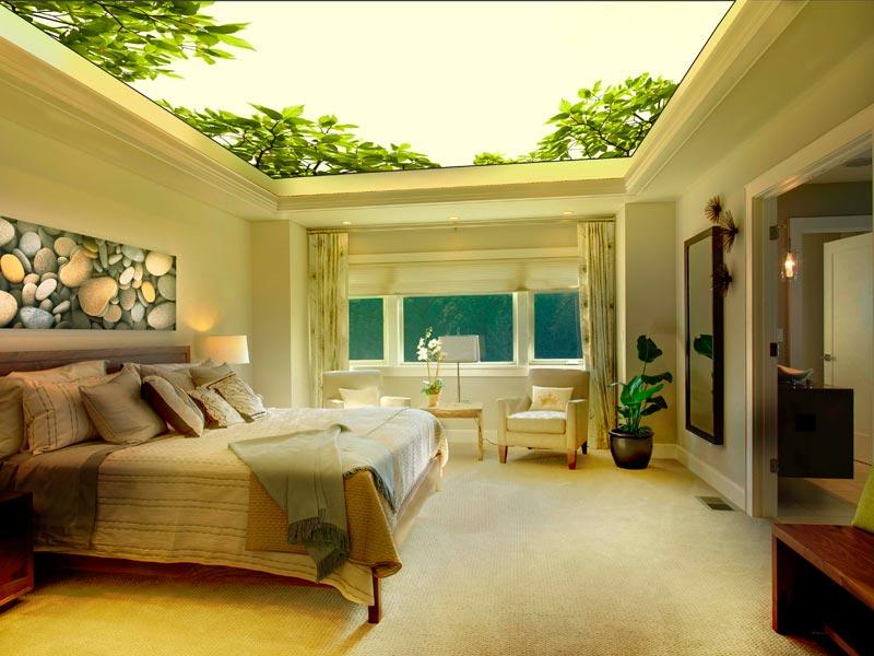 Натяжные потолки для спальни (40 фото): романтично, стильно и практично