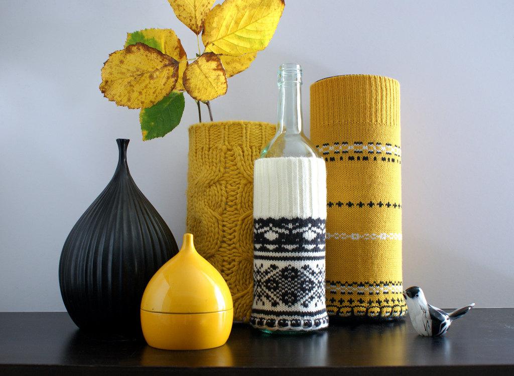 Чехол для вазы своими руками