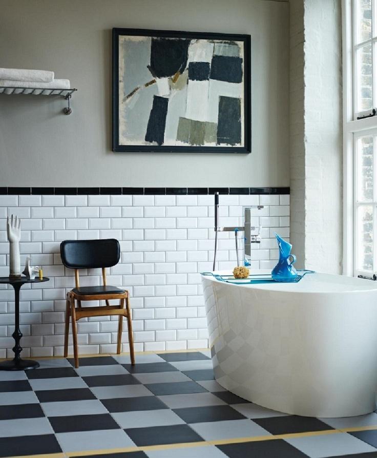Фото 9 - Черно-белая ванная в стиле модерн