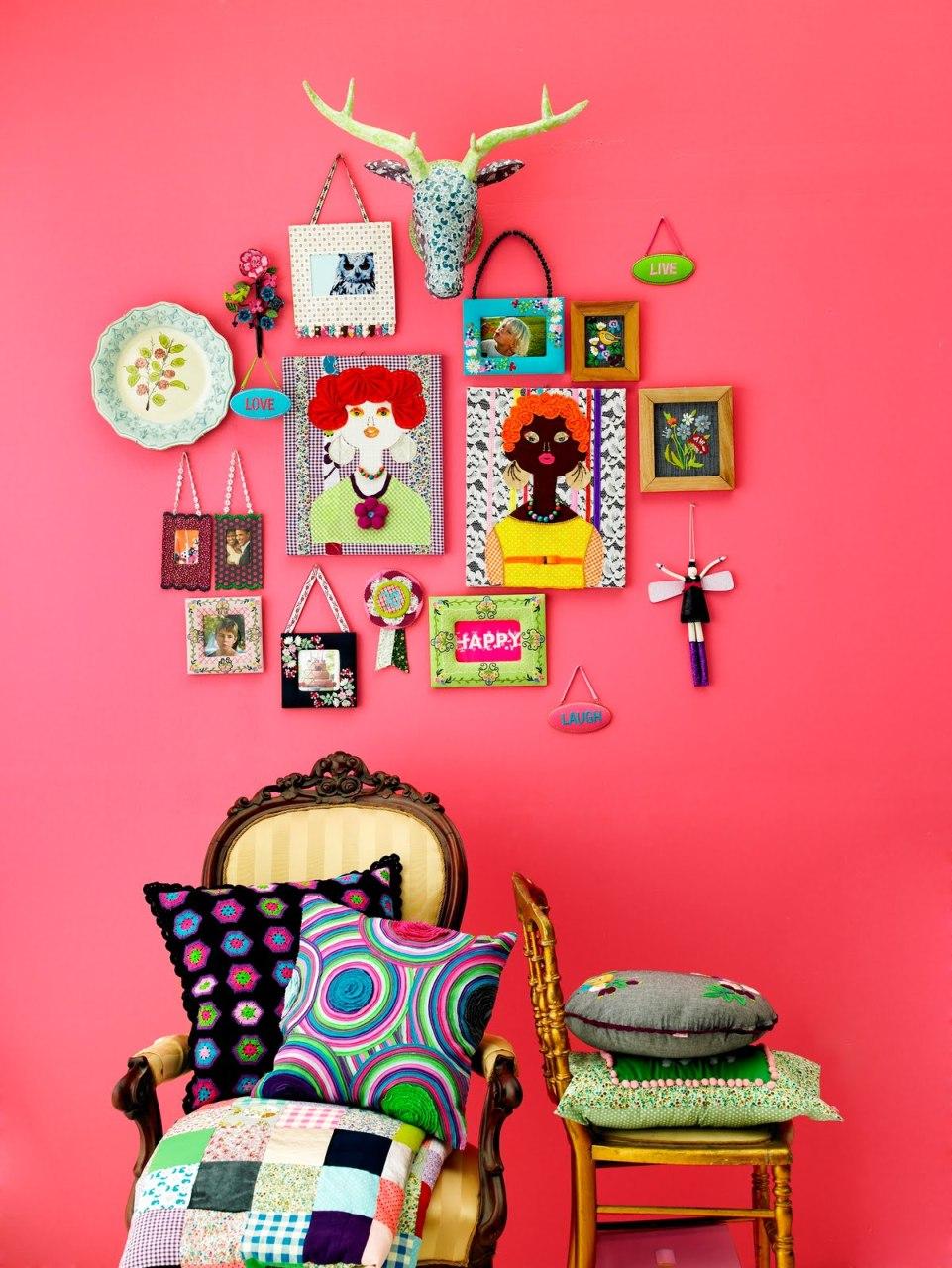 Фото 12- Сочный цвет стены создает яркое настроение