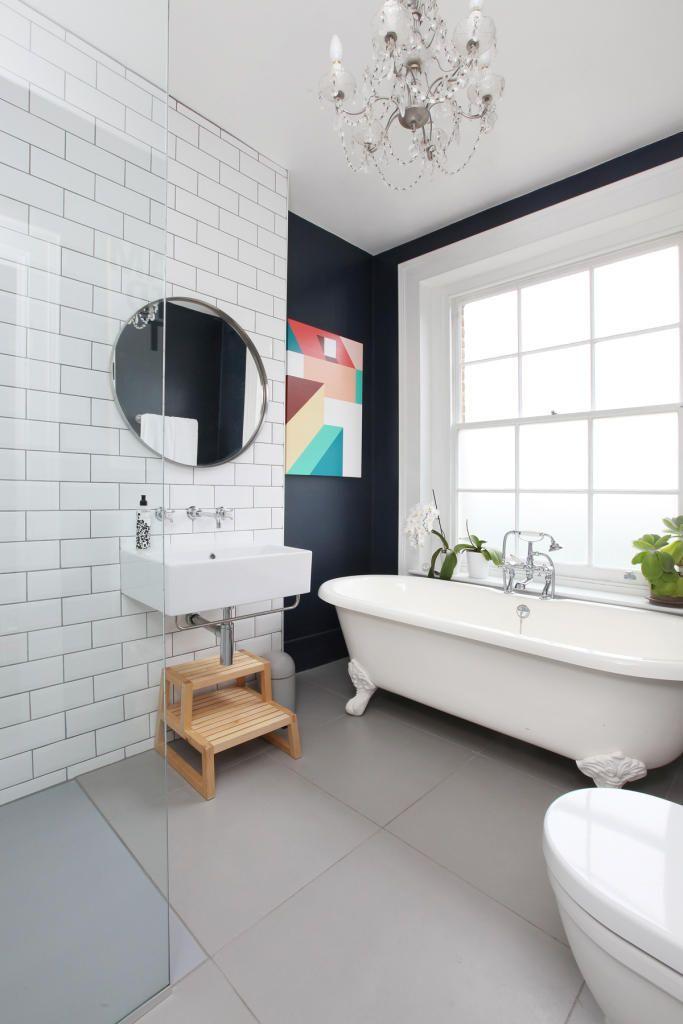 Фото 4 - Черно-белая ванная в стиле модерн