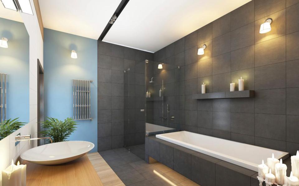 Мягкое освещение ванной комнаты