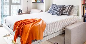 Как преобразить малогабаритную квартиру при помощи откидной кровати? фото