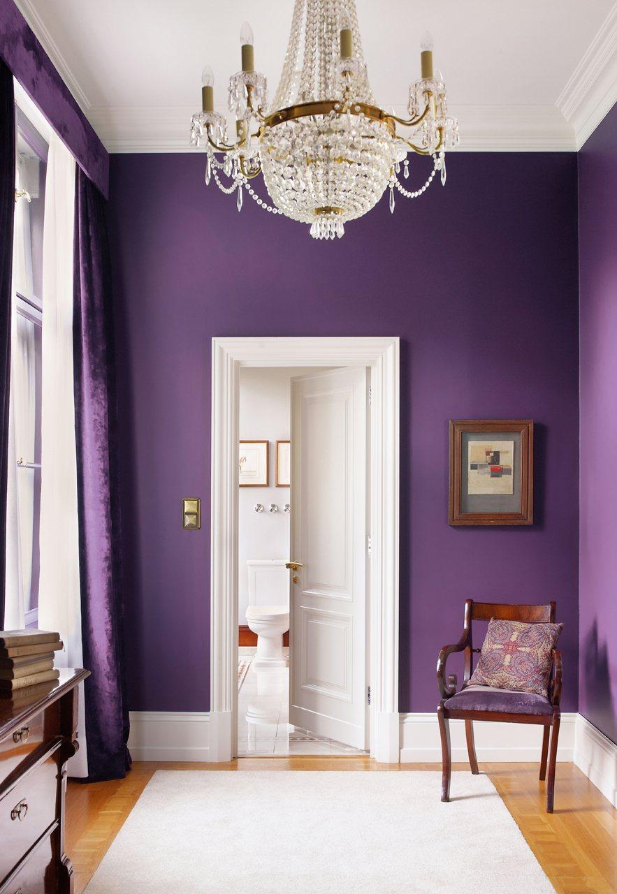 Фото 9 - Необыкновенно красивые фиолетовые стены