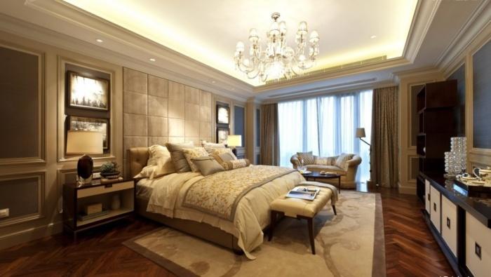 Многоуровневые потолки добавят спальне пространства