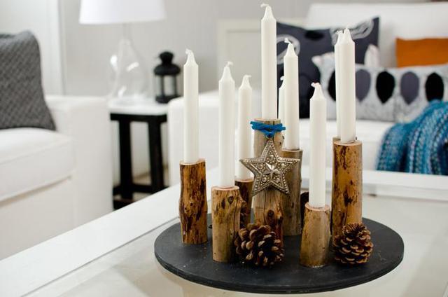 Дерево - благородный материал, из которого получаются очень стильные, эффектные подсвечники