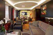 Фото 2 Двухуровневые потолки из гипсокартона (51 фото): технология монтажа