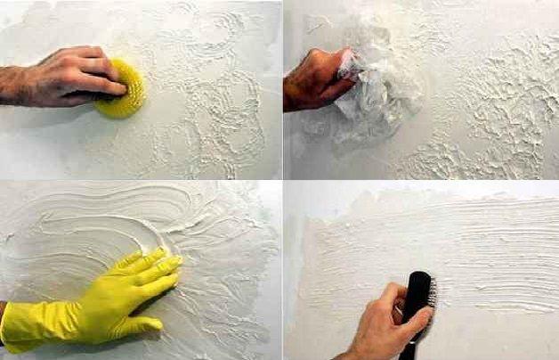 Различные способы создания фактурного покрытия