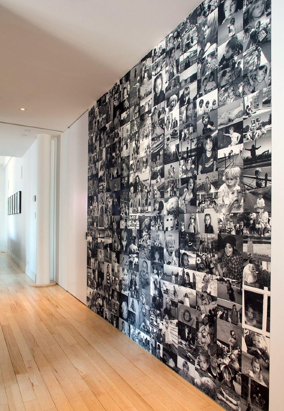 Вместо обоев - вся стена в фотографиях