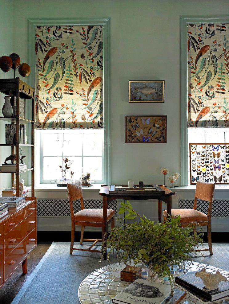Повторяющиеся растительные мотивы в оформлении комнаты