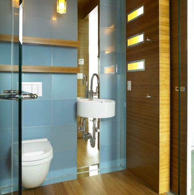 Классическая ровная укладка плитки в туалете