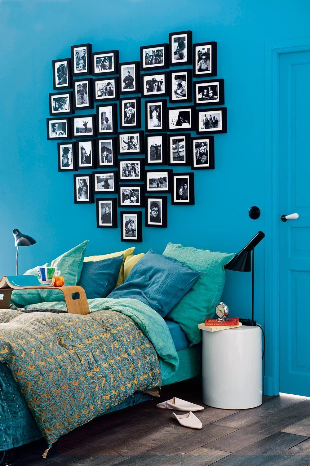 Романтичная идея для спальни - выложенное из кадров сердце