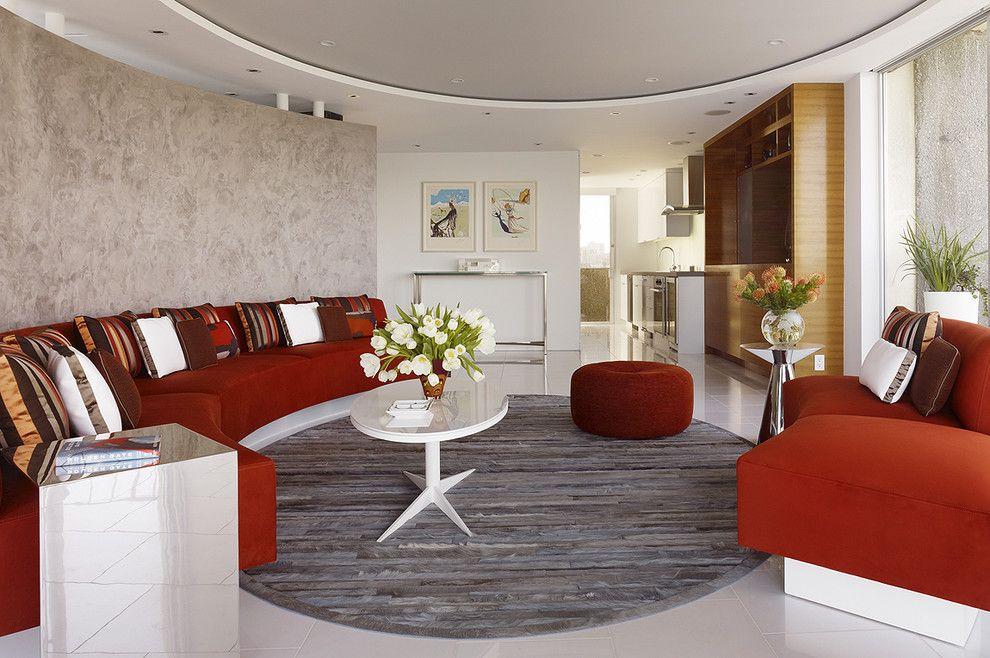Двухуровневый потолок прекрасно улучшает восприятие пространства