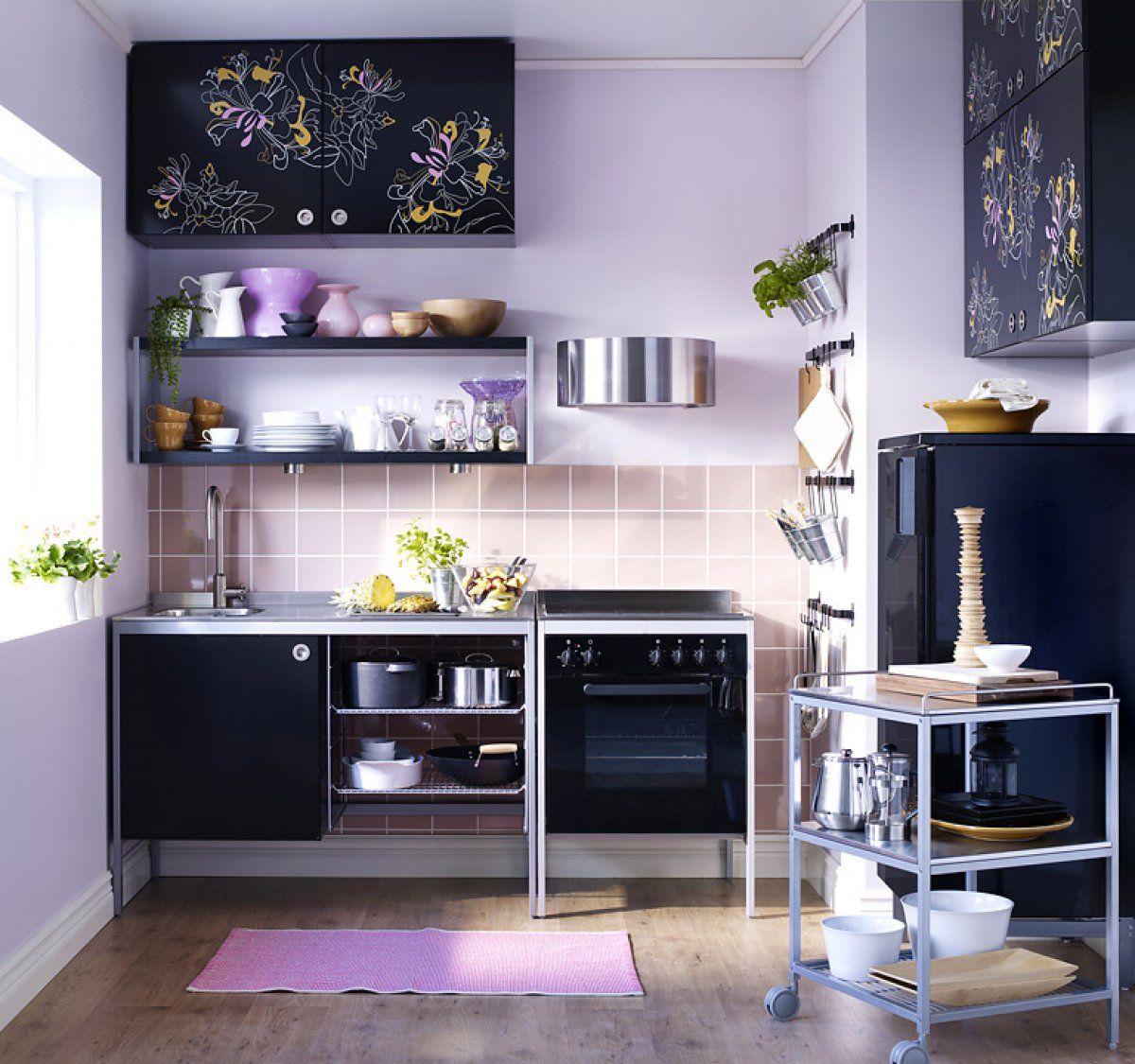 Сиреневый цвет в интерьере кухни идеи фото