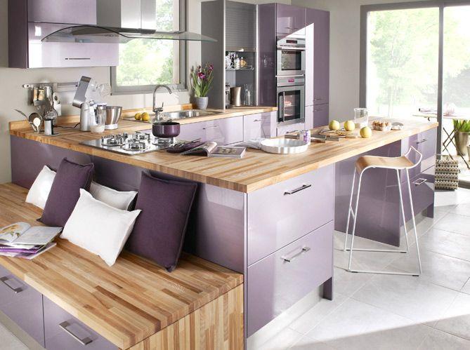 Лавандовый цвет создает приподнятое настроение, заполняет пространство свежестью и легкостью