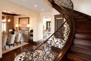 Фото 2 Кованые перила для лестниц (45 фото): мелодия, застывшая в металле