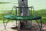 Фото 2 Кованые скамейки (50 фото): нота роскоши в ландшафтной симфонии
