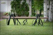 Фото 28 Кованые скамейки (50 фото): нота роскоши в ландшафтной симфонии
