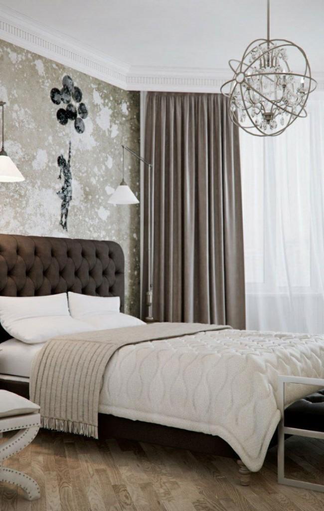 Кровать с мягким изголовьем в стиле барокко