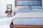 Фото 1 Самый комфортный тренд сезона: 70+ стильных двуспальных кроватей с мягким изголовьем