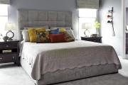 Фото 8 Самый комфортный тренд сезона: 70+ стильных двуспальных кроватей с мягким изголовьем