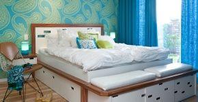 Кровати с ящиками для хранения  (50 фото):  комфорт и рационализм фото