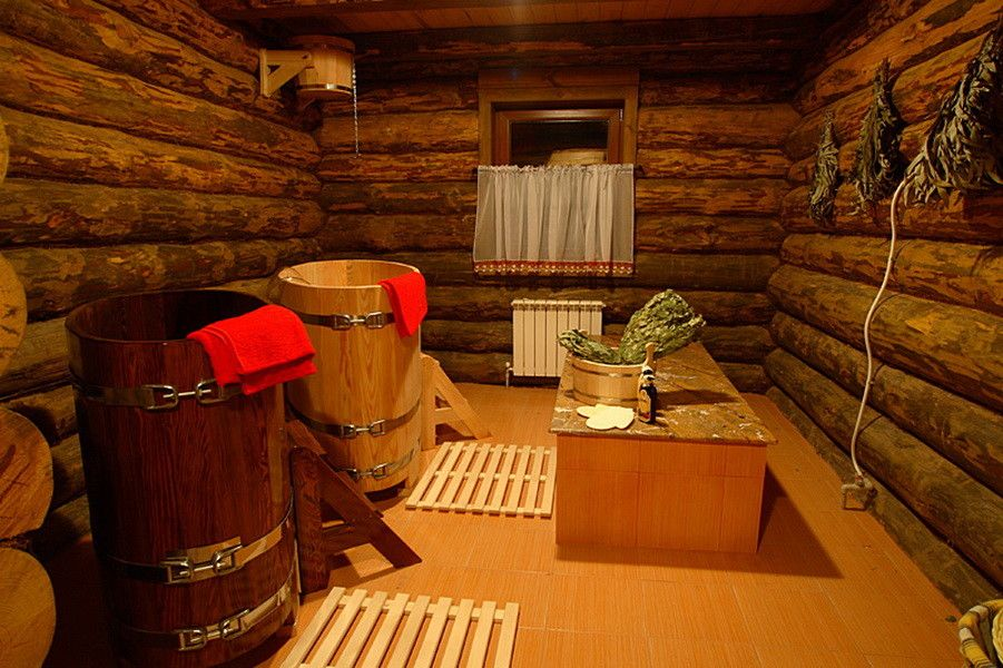 Деревенская простая баня своими руками