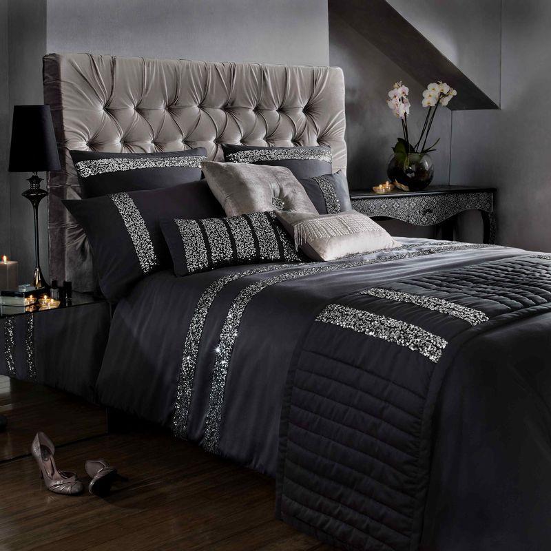 Фото 17 - Черный постельный комплект