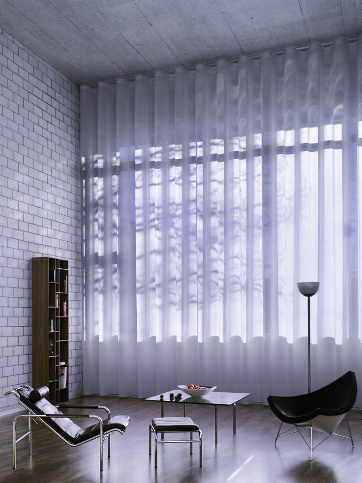 Матовая текстура шторы создаст мягкое, пастельное окружение