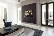 Фото 6 Телевизор на стене в интерьере (45 фото): идеи гармоничного размещения